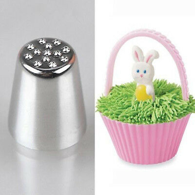 2X Grass Hair Icing Nozzle Fur Nest Piping Tube Cake Decorating Sugar Craft FG