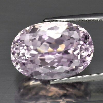 VVS Clean! 13.19ct 16x11.2mm Oval Natural Untreated Pink Kunzite