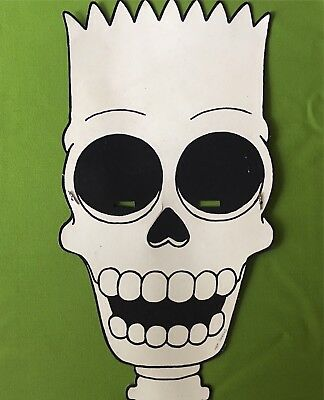 vintage 1989 HALLOWEEN Bart GHOST mask THE SIMPSONS never sold PROMOTIONAL RARE