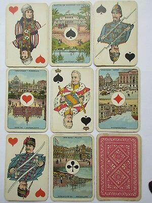 Wust. National cards. Wunderschone antike Spielkarten. 1906. Dutch aces. Germany