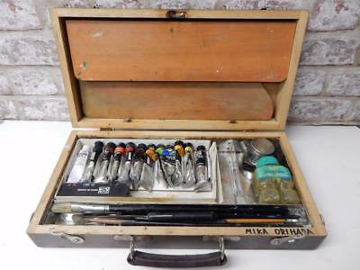 really old artists box artist storage box carry with contents