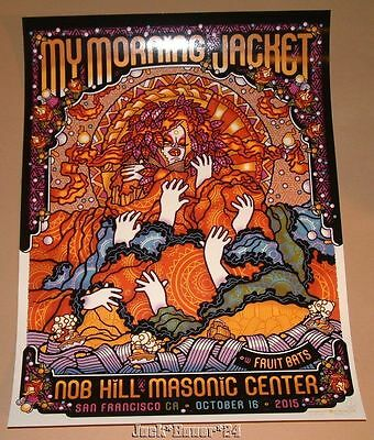 My Morning Jacket Guy Burwell San Francisco Poster Print Signed Numbered Night 2