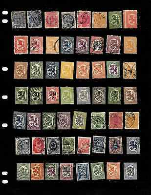 Finland: Nice 'vintage' Stamp Collection Displayed On 2 Sheets.  See Scans