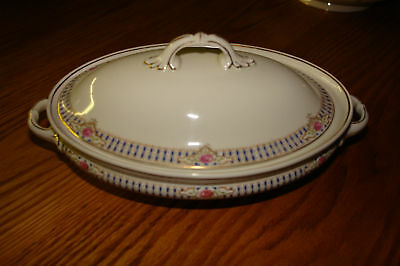 Antique W.H. Grindley Oval Covered Serving Dish
