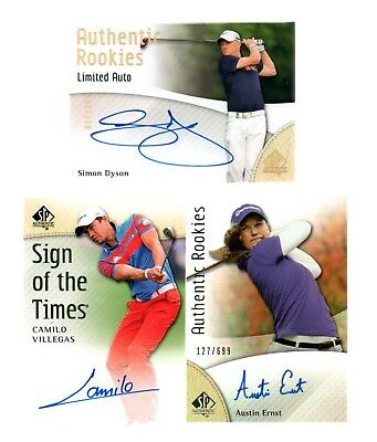 2014 UD SP Authentic Camilo Villegas Sign of the Times AUTO