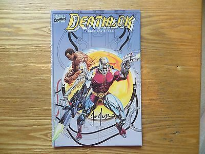 1990 Marvel Comics Deathlok Ltd Series # 1 48 Pages Signed Joe Jusko, With Poa