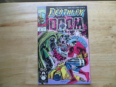 1991 Marvel Comics Deathlok  # 3 Vs Doctor Doom Signed Creator, Rich Buckler