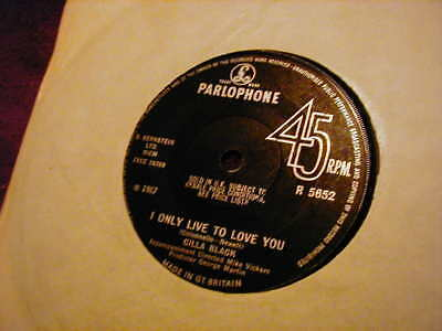 """Cilla Black, I Only Live To Love You ,7""""  Vinyl"""