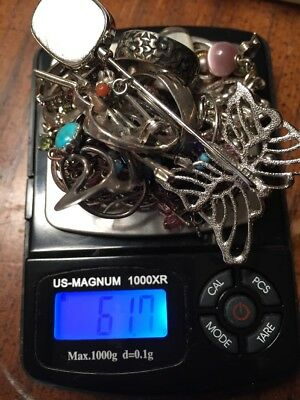 Sterling Silver Jewelry Scrap/wearable  61 Grams