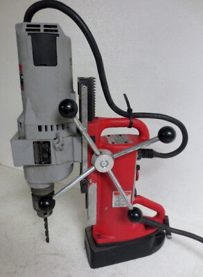 Milwaukee Electromagnetic Drill Press Base 4203 & Drill Motor 4297-1 Magnetic