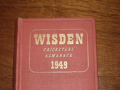 Wisden Cricketers' Almanack 1949 hard covered edition FINE condition
