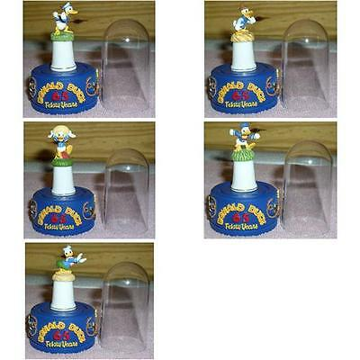 Disney Donald Duck Set of 5 thimbles with Stand and Dome each one
