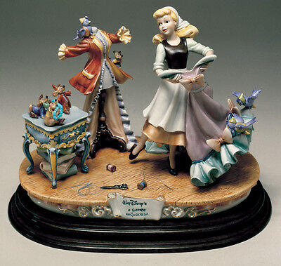 Disney Cinderella Dress  Capodimonte Laurenz Figurine C.O.A. Original Box