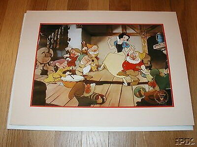 Disney Snow White Dancing with 7 Dwarfs Gold Seal Lithograph