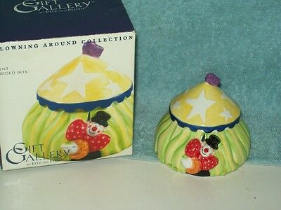 NEW CLOWNING AROUND TENT LIDDED BOX - by: FITZ & FLOYD