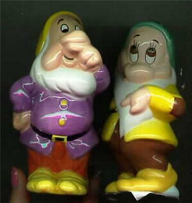 Snow White & the 7 Dwarfs Salt & Pepper 2 Dwarfs Disney