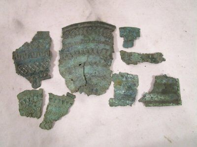 ANTIQUE Pre-Columbian OR ISLAMIC BRONZE FRAGMENTS FROM A BOWL ?