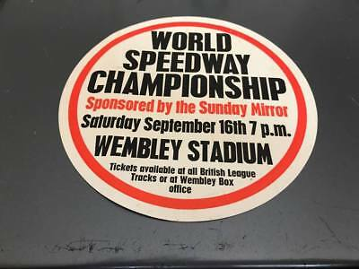World Speedway Final---1970's---Wembley--Small Advertising Poster(1)