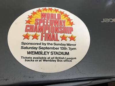 World Speedway Final---1970's---Wembley--Small Advertising Poster(2)