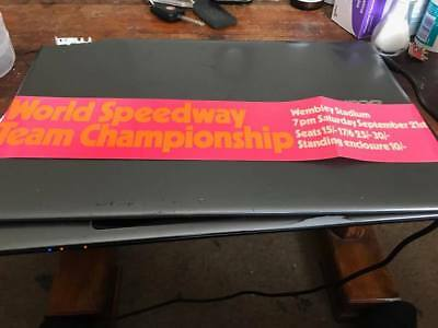 World Speedway Team Final---1970's---Wembley--Small Advertising Poster