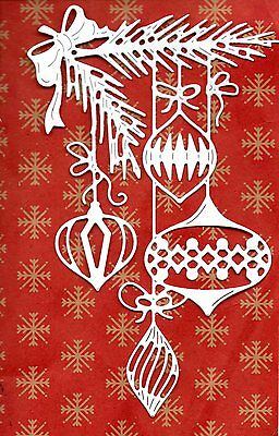 New 8 .tattered Lace Art Deco Baubles  Die Cuts-  Christmas Topper