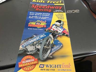 Isle Of Wight Islanders---1990's---Speedway --Small Advertising Leaflet