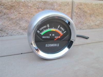 1966-1969 Oldsmobile Cutlass 442 Console Mounted Vacuum Gauge Looks/Works Great!