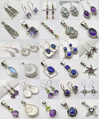 Wholesale ! Sterling Silver Earrings Pendant 15 Sets!