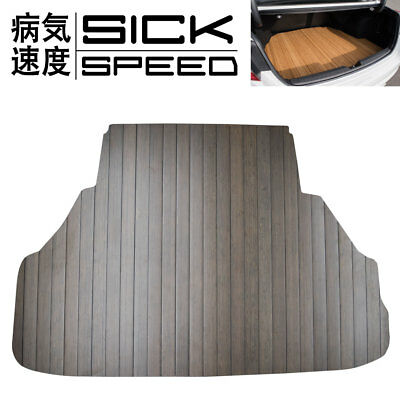 Sickspeed Dark Mahogany Custom Cut Walnut Trunk Floor Mat For Civic Sedan