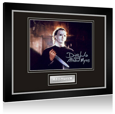 Sale! Halloween Don Shanks (Michael Myers) Signed Framed Display