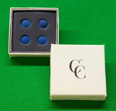 4 x Century Pro cue tips 10mm for snooker/pool cues - Every tip pressure tested