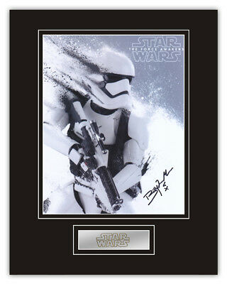 Sale! Star Wars Billy James Machin (First Order Stormtrooper) Signed Display