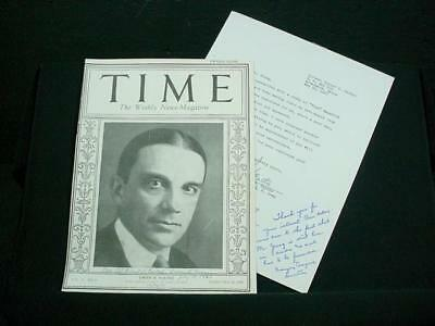 NobleSpirit NO RESERVE {3970} Owen D. Young Signature on Time Magazine Cover