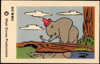 1964 Vintage Swedish Unnumbered Disney Set Gum Card Dumbo