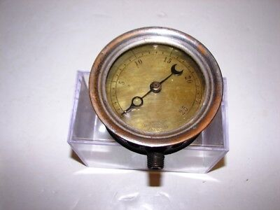 "antique Crosby Steam Gauge & Valve Co. Boston 4"" Brass & Iron Gauge steam punk"