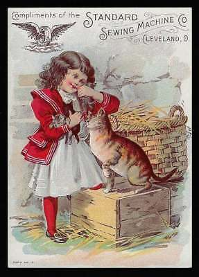 Standard Sewing Machine Co., Cleveland, Ohio - Girl with Kittens
