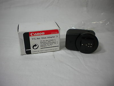 Nib Canon Ttl Hot Shoe Adapter 3  Cz6-2355