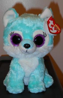 """Ty Beanie Boos ~ JADE the 6"""" Wolf ~ GWL Exclusive ~ NEW with MINT TAGS ~ IN HAND"""