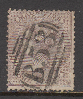 MAURITIUS 1863-72 QV 1d Purple Brown SG 56w used CV £40