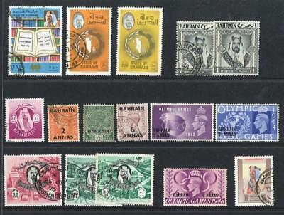 BAHRAIN - Small Lot of Mint/Used - Older Overprints to Modern - Nice!