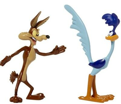 New Road Runner & Wile E Coyote Bendable Figure Set WB Looney Tunes TV Series