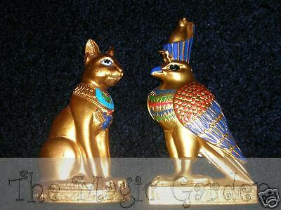 2 different Egyptian Pharoah cement plaster craft latex moulds molds