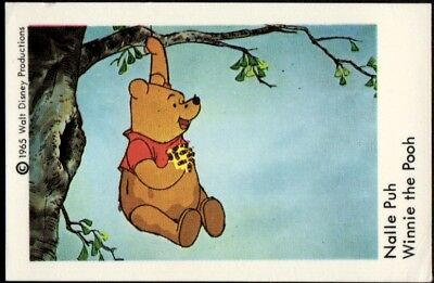 1967 Vintage Swedish Unnumbered Disney Set Gum Card Nalle Puh - Winnie The Pooh