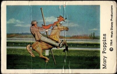 1966 Vintage Swedish Unnumbered Disney Set Gum Card Mary Poppins