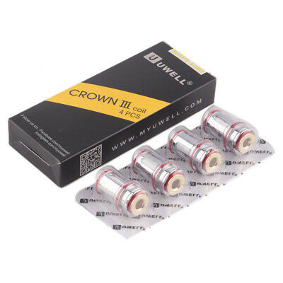 1-8pc Uwell Crown 3 Coil Head Replacement Crown III TANK Coils 0.25/0.5ohm Lots