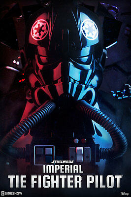 Star Wars~Ep: Iv Anh~Imperial Tie-Fighter Pilot~Sixth Scale Figure~Sideshow~Mib