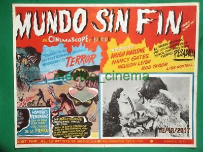 WORLD WHITHOUT END Sci-Fi MONSTER ROCKET BEAUTIFUL ART SPANISH MEXICO LOBBY CARD