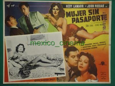 HEDY LAMARR A LADY WITHOUT PASSPORT Crime FILM-NOIR LEGGY MEXICAN LOBBY CARD 3