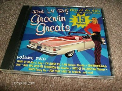 Rock N Roll Groovin Greats - Volume 2   Hits Of The 60's  Cd - Vg+