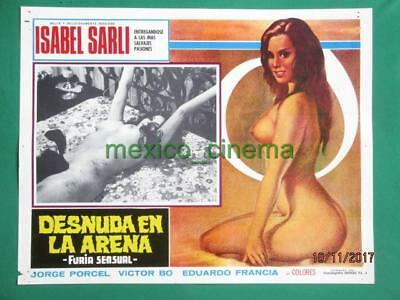 Topless Sexy Gorgeous Babe Breasts Isabel Sarli Spanish Mexican Lobby Card 5